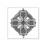 "Celtic Cross Symbol Square Sticker 3"" X 3&quo"