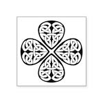 Celtic Four Leaf Clover Symbol Square Sticker 3&qu