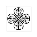 Celtic Four Leaf Clover Symbol Square Sticker 3&qu