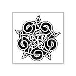 Celtic Knotwork Ornament Symbol Square Sticker 3&q