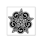 Celtic Knotwork Ornament Symbol Square Sticker 3&q