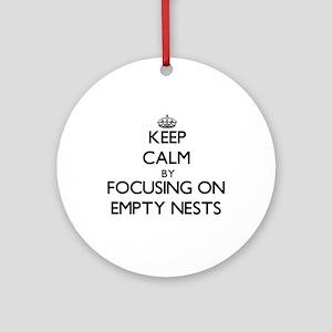 Keep Calm by focusing on Empty Ne Ornament (Round)