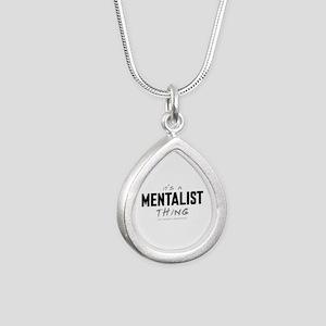 It's a Mentalist Thing Silver Teardrop Necklace