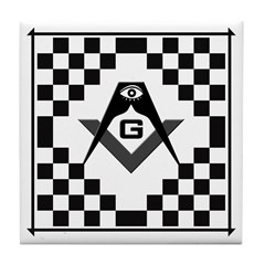 Masonic Tiles - Checkers Tile Coaster