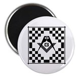 Masonic Tiles - Checkers Magnet