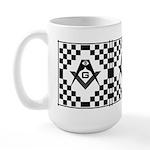 Masonic Tiles - Checkers Large Mug