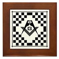 Masonic Tiles - Checkers Framed Tile