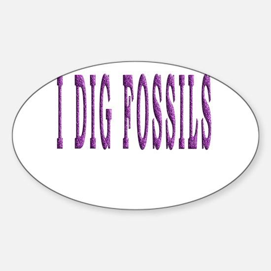 I Dig Fossils Decal