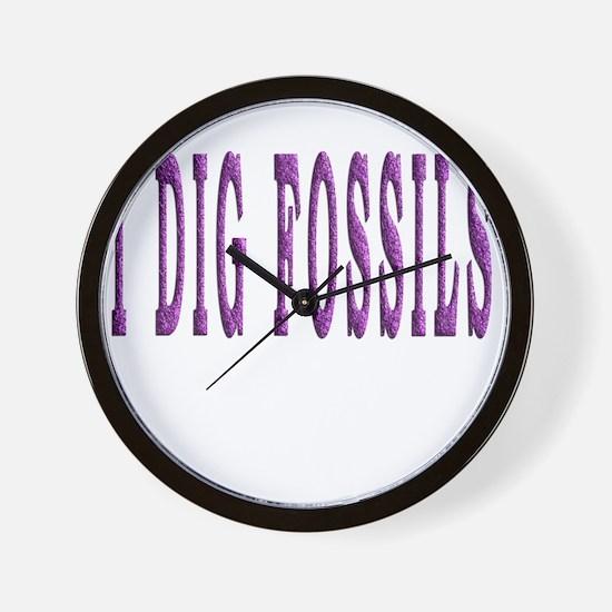 I Dig Fossils Wall Clock