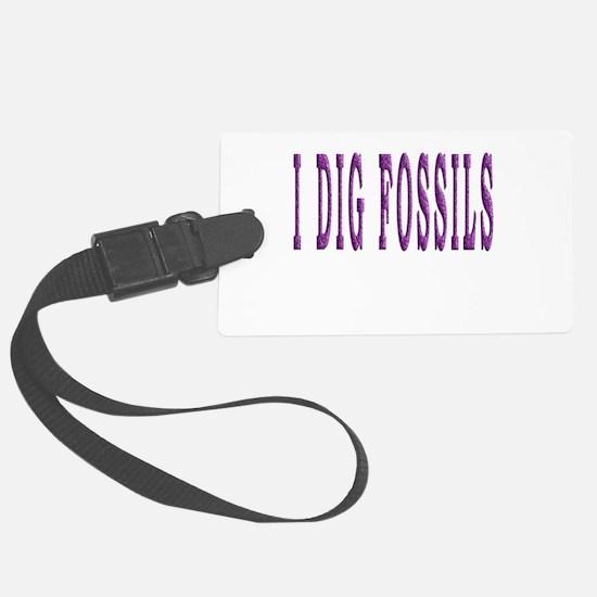 I Dig Fossils Luggage Tag