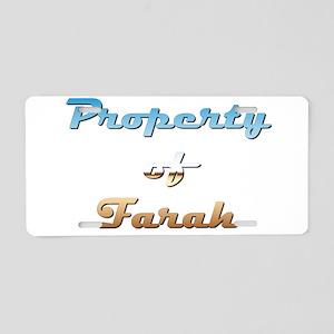 Property Of Farah Female Aluminum License Plate