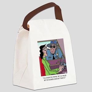 Science Cartoon 1825 Canvas Lunch Bag