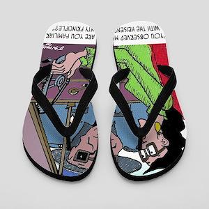 Science Cartoon 1825 Flip Flops