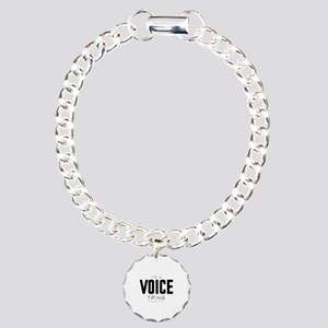 It's a Voice Thing Charm Bracelet, One Charm