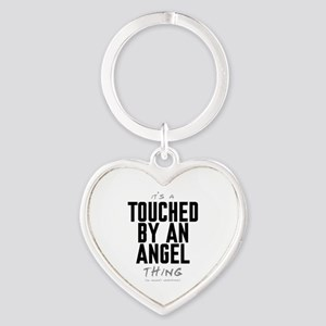 It's a Touched by an Angel Thing Heart Keychain