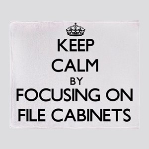 Keep Calm by focusing on File Cabine Throw Blanket