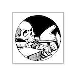 "Skull And Science Symbol Square Sticker 3"" X"