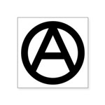 "Anarchy Symbol Square Sticker 3"" X 3"""
