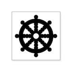 "Dharma Wheel Symbol Square Sticker 3"" X 3&quo"