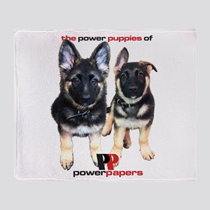 Power Papers Puppies Throw Blanket