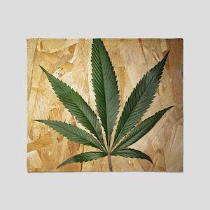 Kush Leaf Throw Blanket