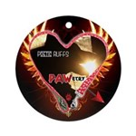 PAWetry - Poetic RUFFS Ornament (Round)