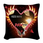 PAWetry - Poetic RUFFS Woven Throw Pillow