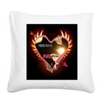 PAWetry - Poetic RUFFS Square Canvas Pillow