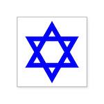 Blue Star Of David Symbol Icon Square Sticker 3&qu