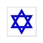 Blue Star Of David Symbol Icon Square Sticker 3&qu