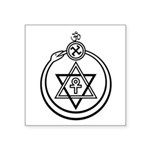 "Theosophical Seal Symbol Square Sticker 3"" X"