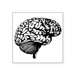 """Human Brain Symbol Icon Square Sticker 3"""" X 3"""