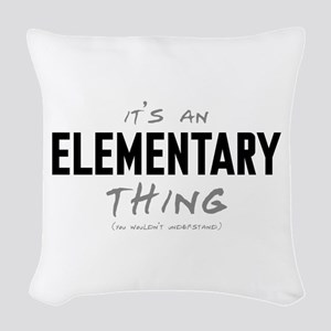 It's an Elementary Thing Woven Throw Pillow