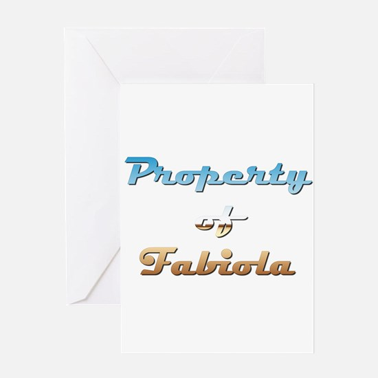 Property Of Fabiola Female Greeting Card