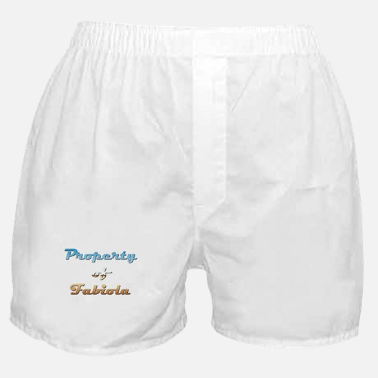 Property Of Fabiola Female Boxer Shorts