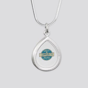 Offical Community Fanboy Silver Teardrop Necklace