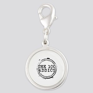The 100 Addict Stamp Silver Round Charm