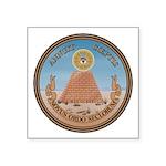 Us Great Seal Reverse Symbol Square Sticker 3&quot
