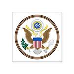 Us Great Seal Obverse Symbol Square Sticker 3&quot