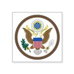 Us Great Seal Obverse Symbol Square Sticker 3&quot