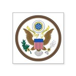 Us Great Seal Obverse Symbol Square Sticker 3""
