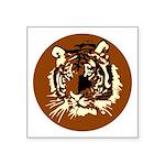 Tiger Head Circle Symbol Icon Square Sticker 3&quo