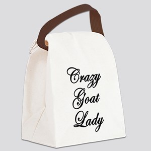Crazy Goat Lady Canvas Lunch Bag