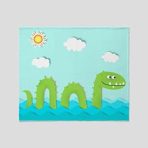Sea Monster Throw Blanket