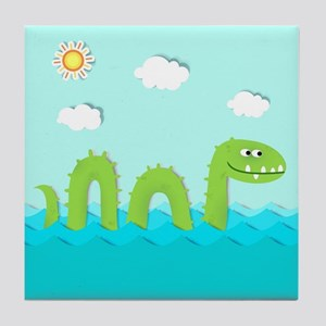 Sea Monster Tile Coaster