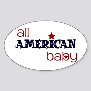 all american baby Oval Sticker