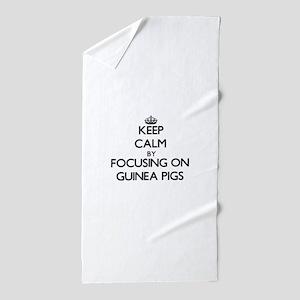 Keep Calm by focusing on Guinea Pigs Beach Towel