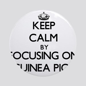 Keep Calm by focusing on Guinea P Ornament (Round)