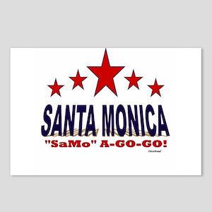 "Santa Monica ""SaMo"" A-Go- Postcards (Package of 8)"