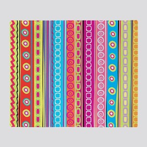 Colorful Stripes Throw Blanket